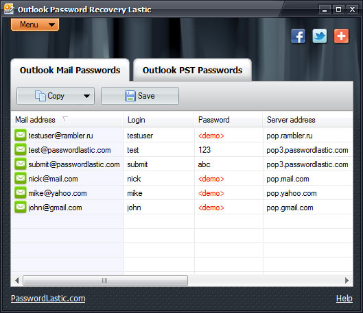 Outlook Password Recovery Lastic 1.3 full